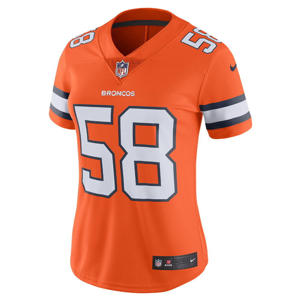c9677b76 NFL Denver Broncos Color Rush Limited (Von Miller) Women's Football ...