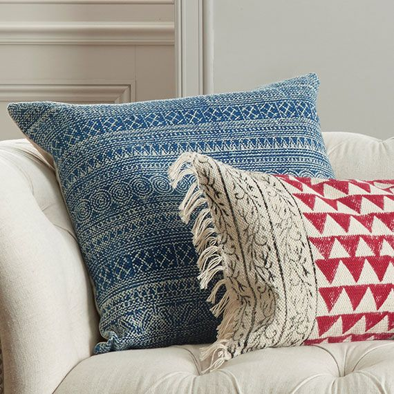 Palayam Cushion Cover Extra Large Cushions Blue and Cushion covers