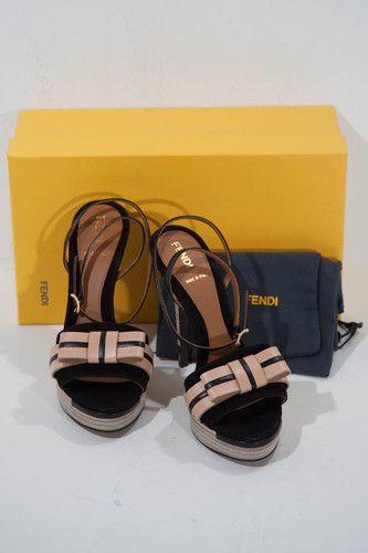 Fendi Pride and Prejudice Bow Sandal Heels
