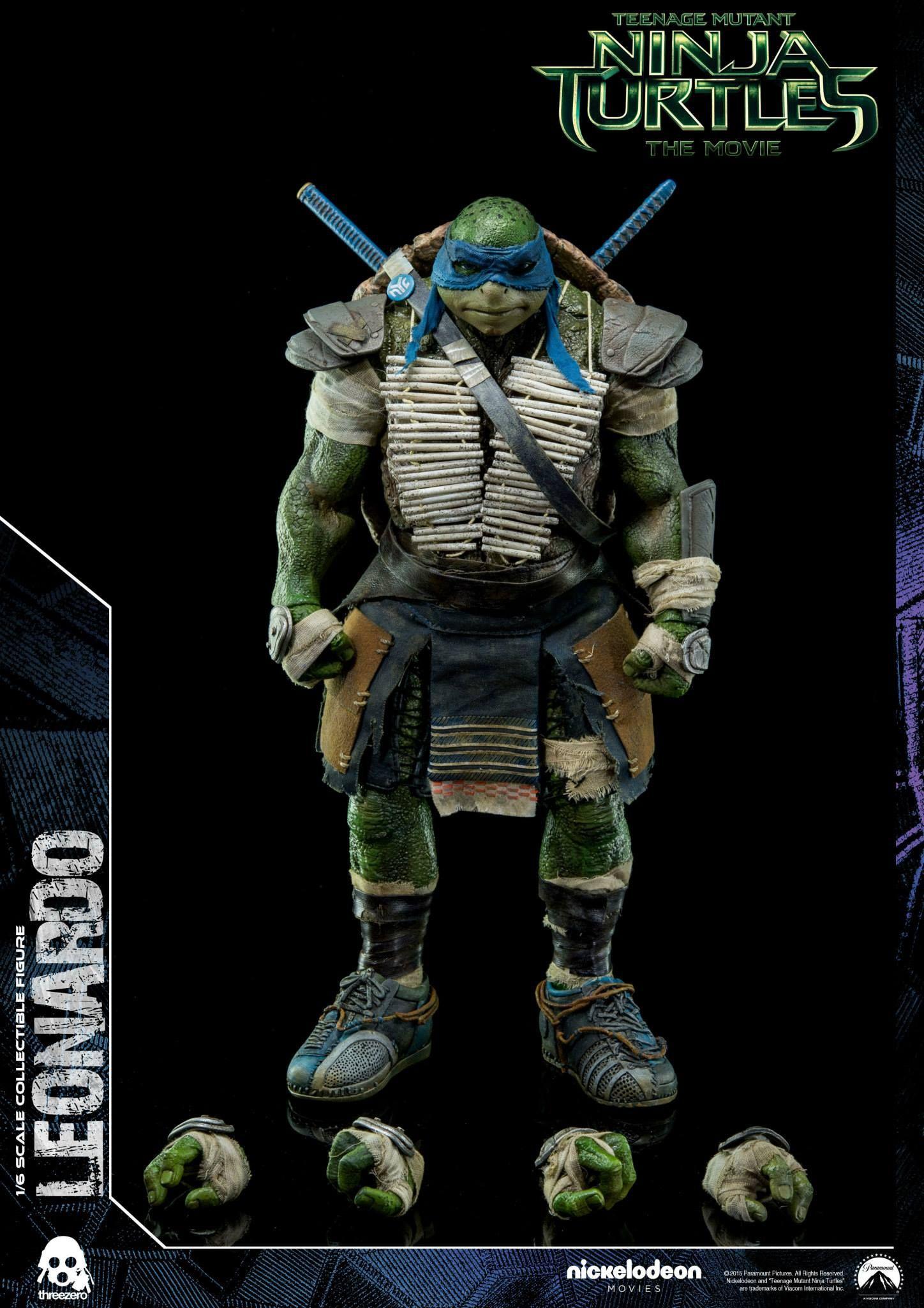 ThreeZero Teenage Mutant Ninja Turtles THE Move Leonardo 1//6 Figure