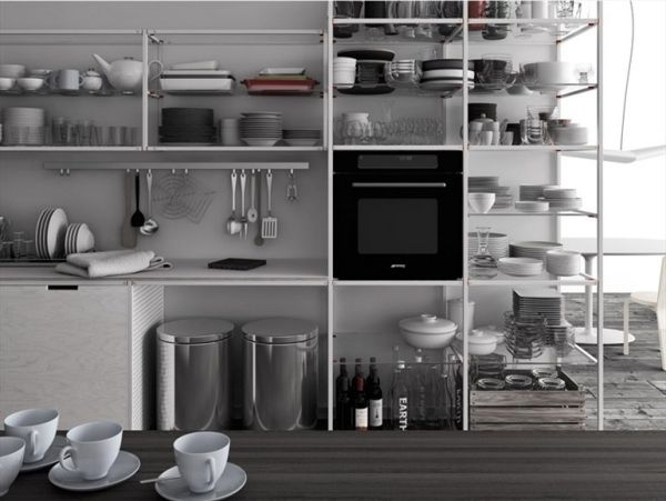 System Küchen Meccanica-Regal Küche Pinterest Regal und Küche - küchen regale holz