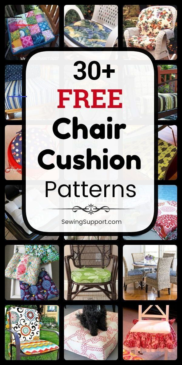 30+ Free Chair Cushion Patterns - Chair Cushion DIY. 30+ free chair cushion & cover sewing patterns, tutorials, and diy projects to sew for your kitchen and dining chairs, outdoor furniture and more. Instructions for how to make your own chair cushions. #SewingSupport #Home #Chair #Cushion #Cover #Diy #Pattern #HowTo #Sewing #furnituresurabaya #dekorasi #love #render #travel #bhfyp #architect #homedecor #decor #architecturelovers #interiordesigner #noel #dekorasirumah #modern #street<br>