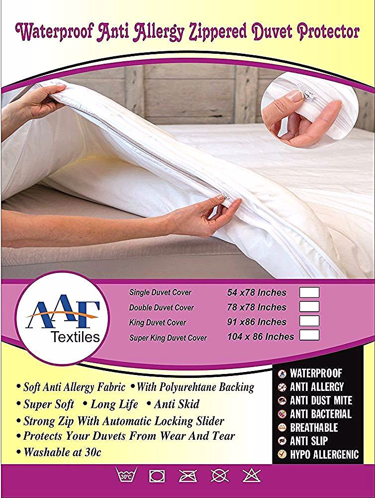 Washable Waterproof Fitted Sheet Protector Cover Single Double King In 2020 Sheet Protector Duvet Covers Duvet