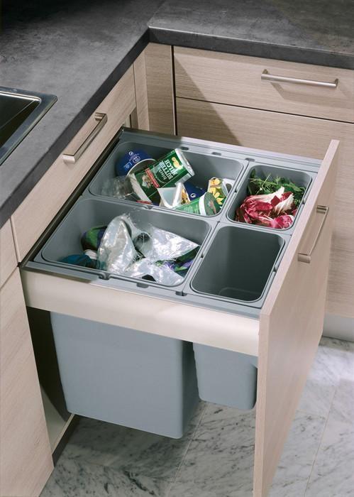 Afval In De Keuken In Een Kast Ruimtebesparing Keuken Ontwerpen Keuken Idee Keuken Ontwerp