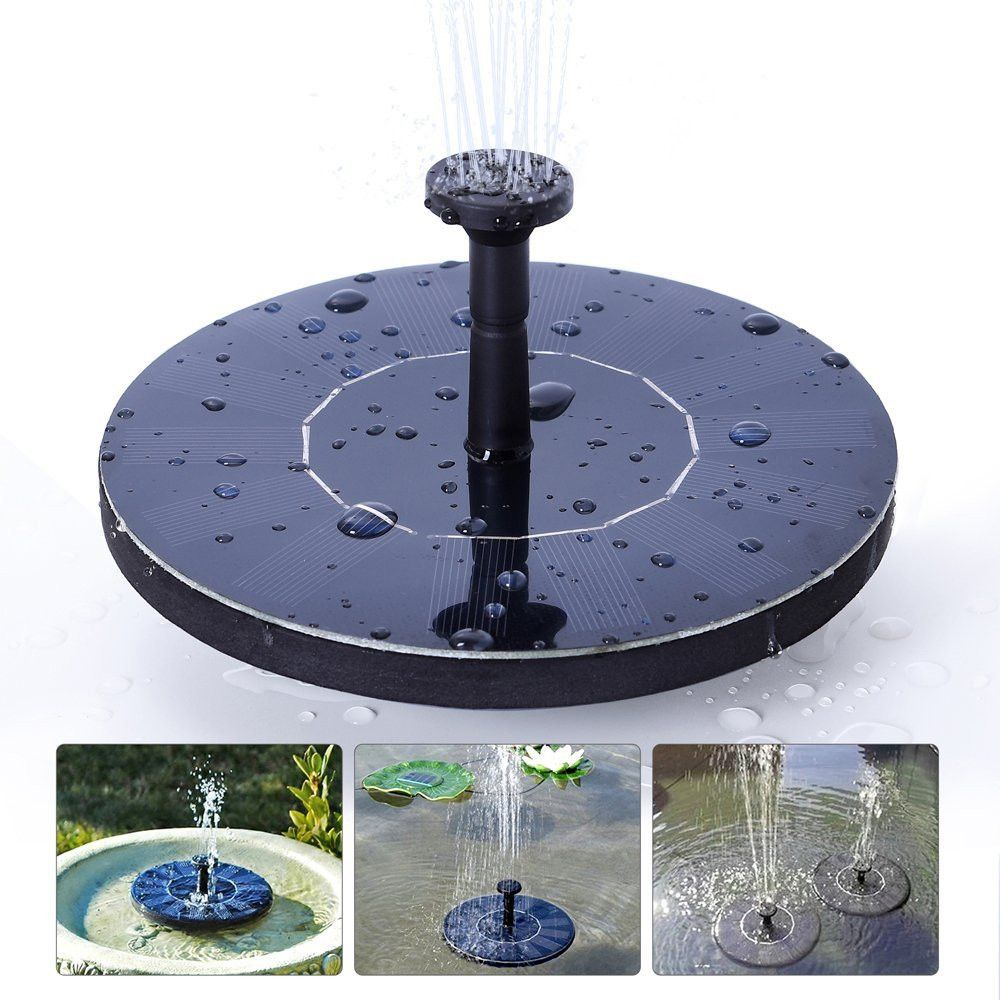 Solar Powered Bird Bath Water Fountain Pump For Pool Garden Aquarium Outdoor USA