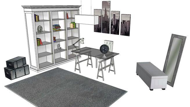 Le bureau urbain maisons du monde d warehouse office models