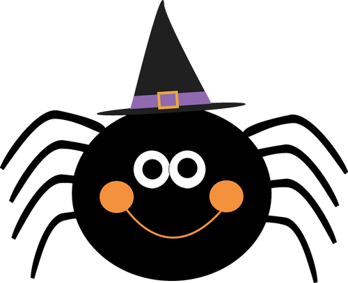 Spider Wearing Witches Hat Halloween Images Halloween Clipart