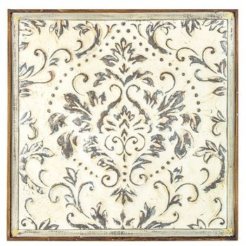 Distressed Cream Damask Metal Wall Decor Hobby Lobby Metal Wall Art Diy Metal Tree Wall Art Metal Tree
