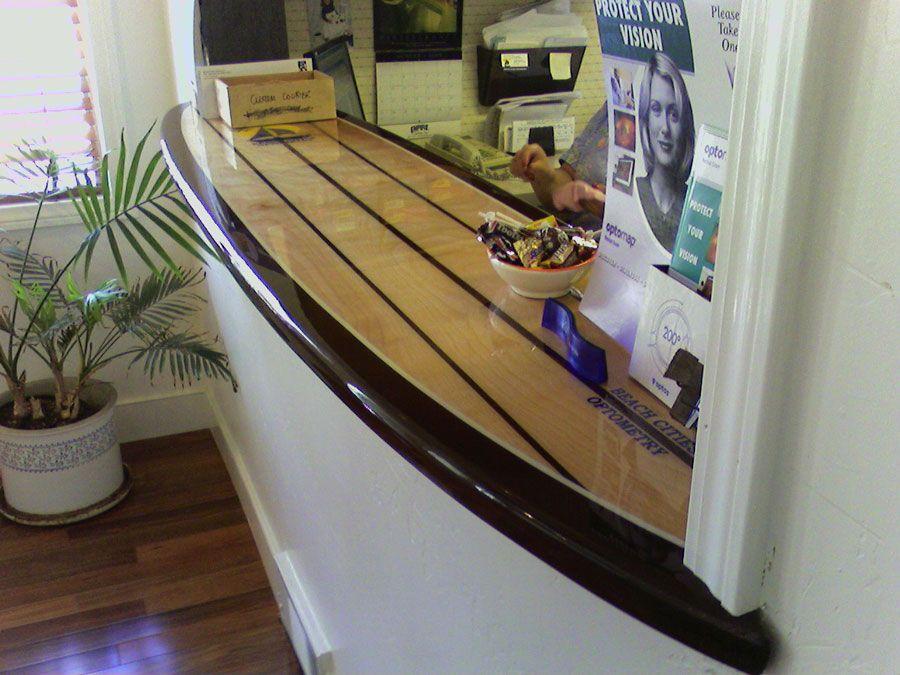 Surfboard bar top google search beverage center pinterest decoraci n surfera playa and - Decoracion surfera ...