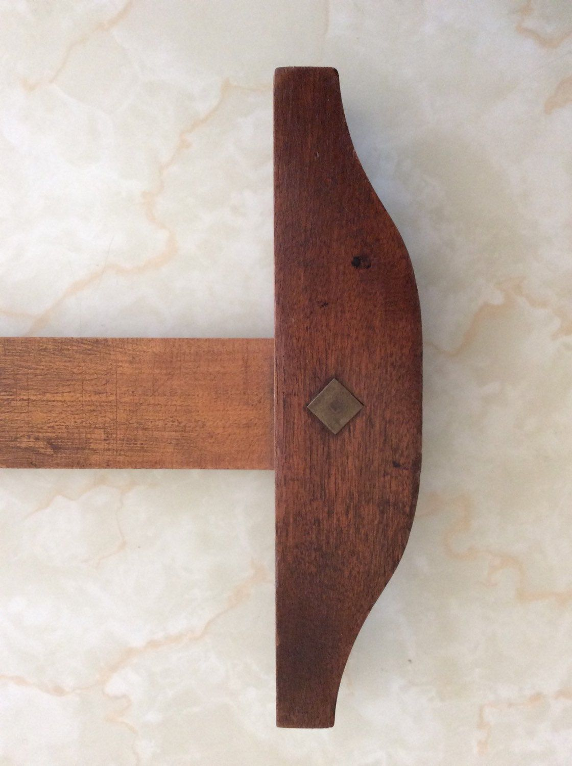 Antique Wooden T Square Straight Edge Vintage Drafting Tool Industrial Wooden Bottle Opener Wall Wooden Straight Edges