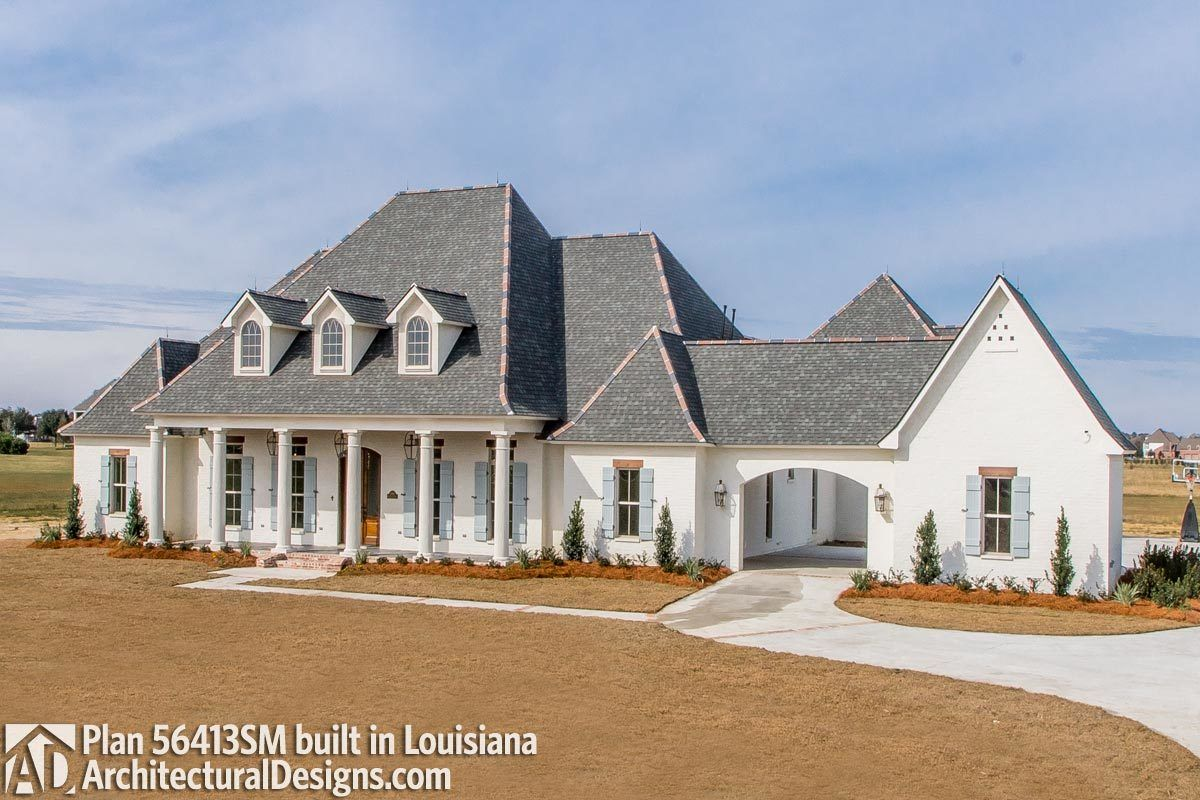 Plan 56413sm Luxury Southern Home Plan With Boat Garage And Many Extras In 2021 Southern House Plans House Plans Farmhouse French Country House Plans