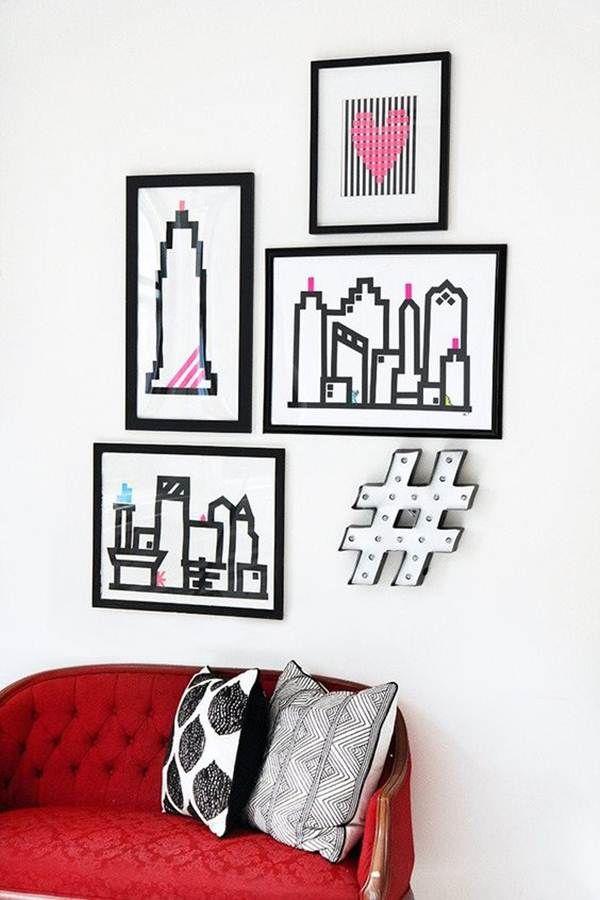 Ideas para decorar tu casa con Washi Tape Cinta Washi Tape, Washi - cuadros para decorar