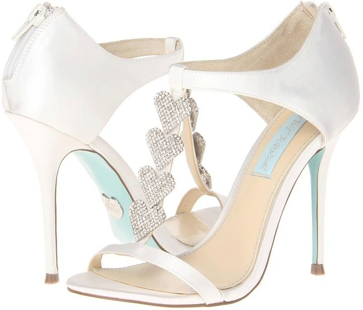 Betsey johnson blue by favor ivory satin high heels