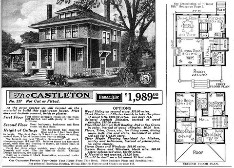 The Main Elements Of The American Foursquare Home Style Four Square Homes Craftsman Bungalow House Plans Vintage House Plans