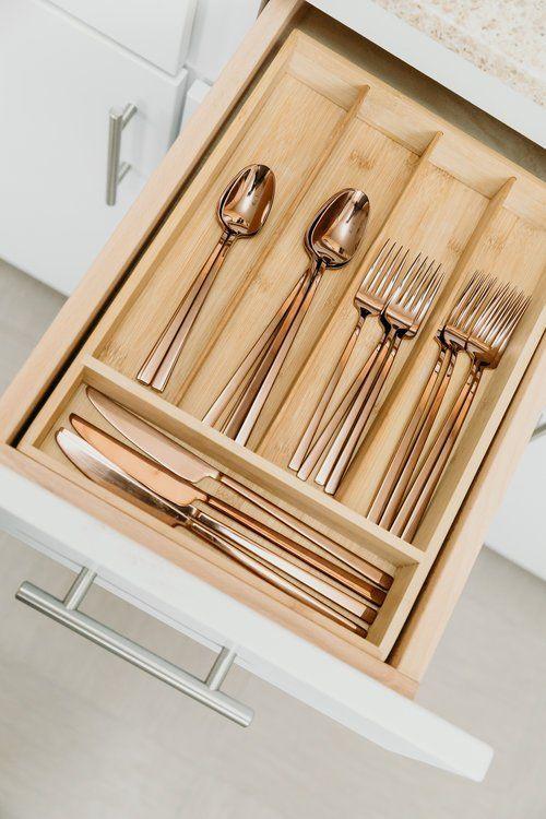Bed Bath Beyond Silverware : beyond, silverware, Copper, Silverware, Beyond, #wohnung, #hausdekor, #schlafzimmer, #wohnzimmer, #dekoration…, Beyond,, Kitchen, Drawer, Organization,