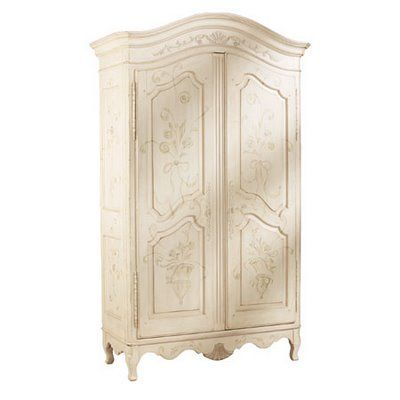 My favorite piece of furniture from Ethan Allen. Painted Armoire for bedroom or living room. HGTV featured as product men and women love.