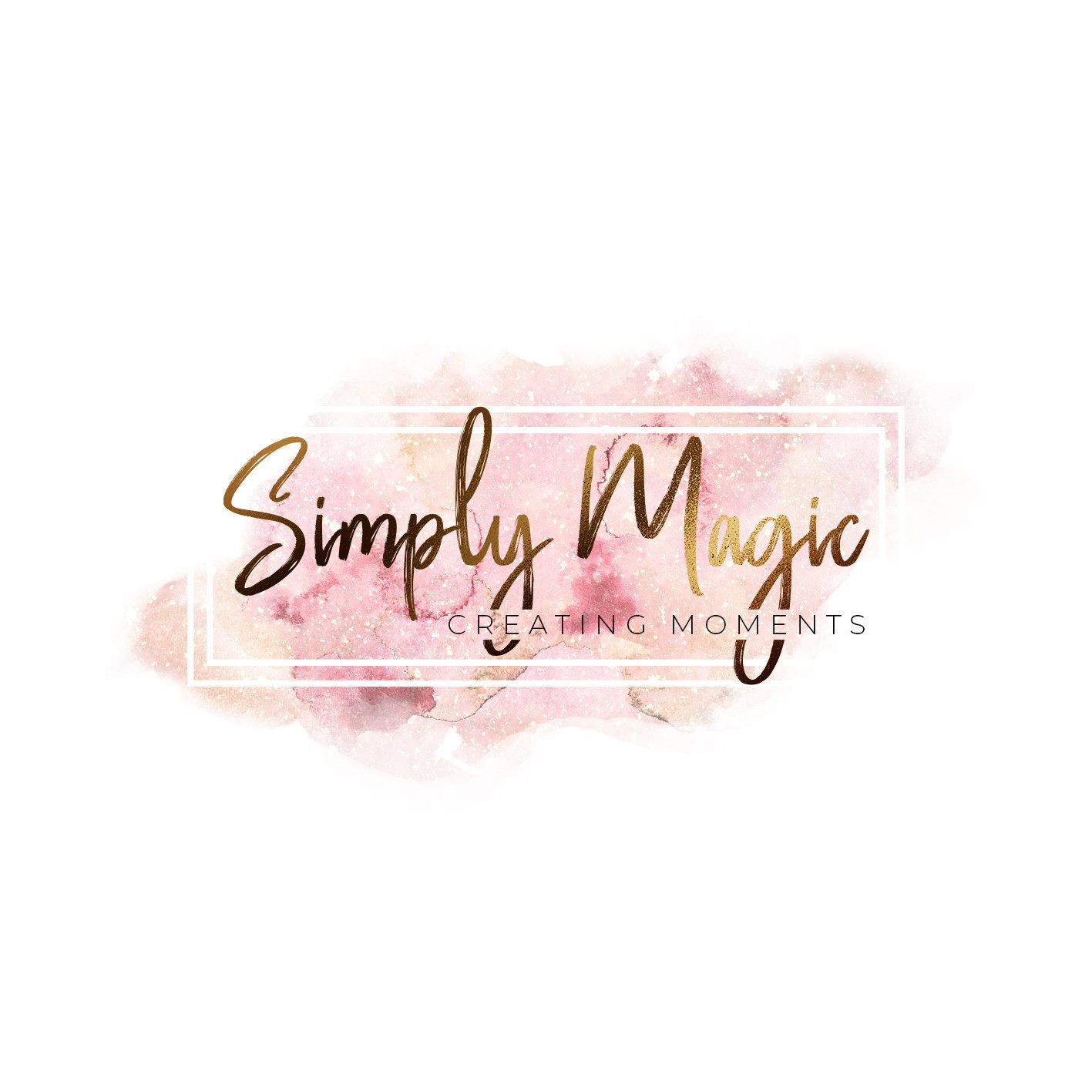 Pretty logo design, subtle beauty, small business logo
