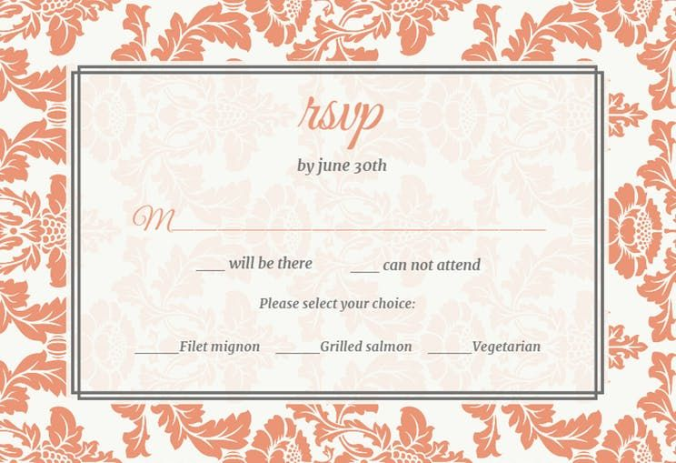 Free Rsvp Card Template Rustic Frame  Printable Response Card Templateclick To Find The .