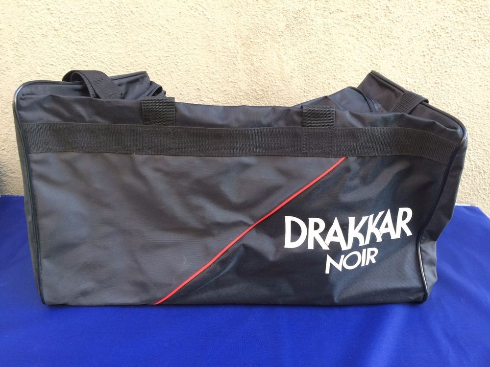 Drakkar Noir Black and Red Rectangular Duffel Gym Bag Shoulder Strap  21x12x11.5  DrakkarNoir  DuffleGymBag 5c9068e3a773e