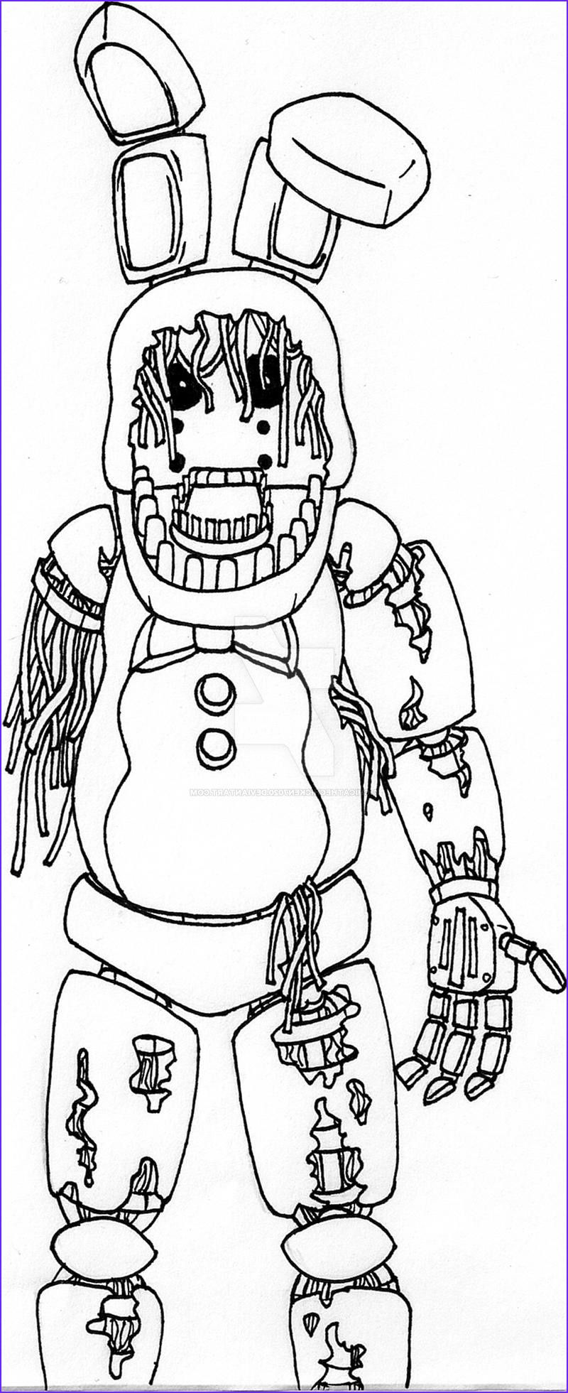 Fnaf Coloring Pages Withered Bonnie : coloring, pages, withered, bonnie, Withered, Bonnie, Chicathechicken7020, DeviantArt, Coloring, Pages,, Puppy, Birthday, Pages