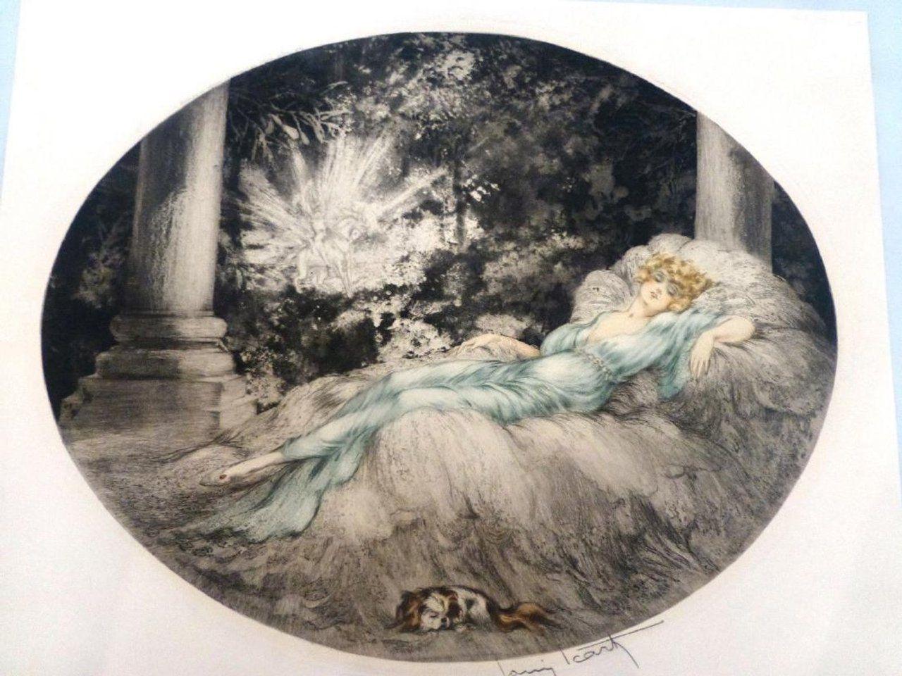1927 Icart Sleeping Beauty Etching And Aquatint Artists In 2019 Artist Art Sleeping Beauty