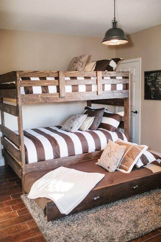 Why Buy When There Are These 34 Diy Bunk Beds Rustic Kids Rooms Diy Bunk Bed Bedroom Furnishings