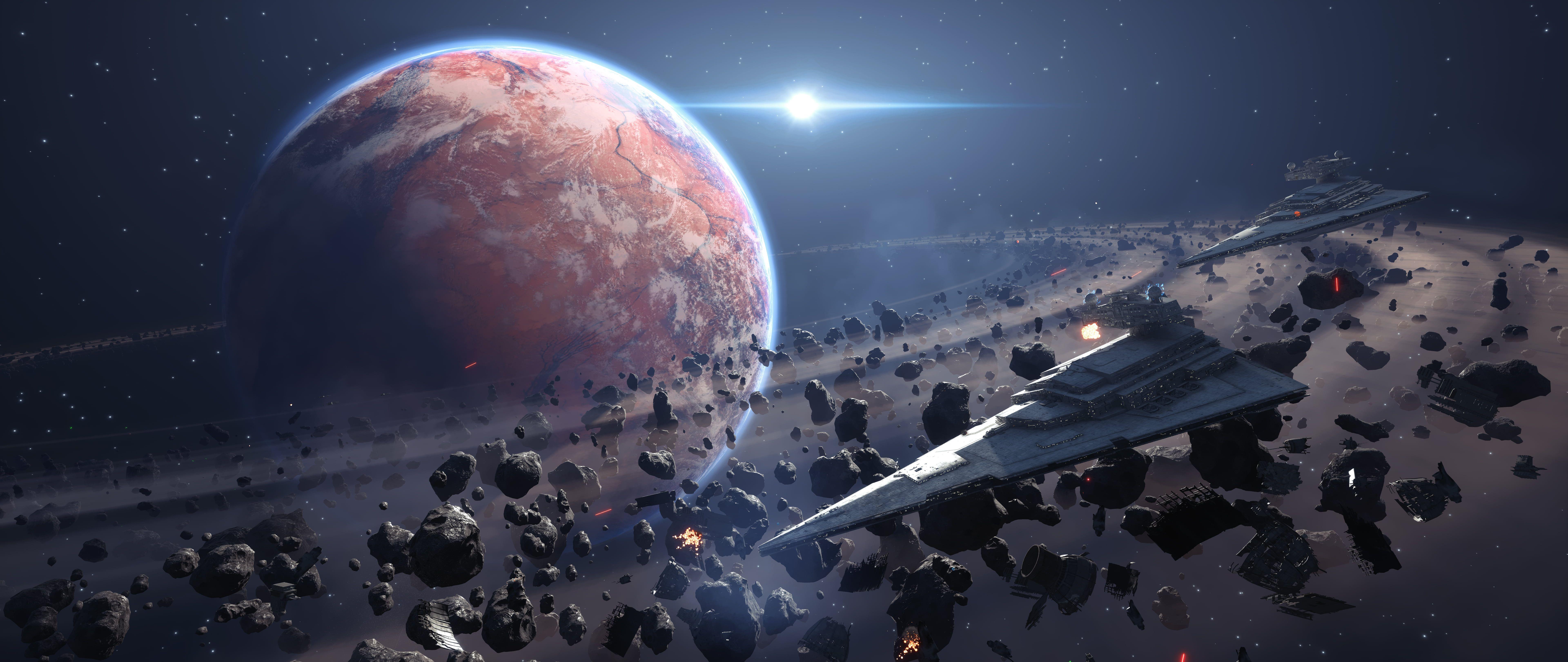 Saturn Planet Illustration Star Wars Battlefront Star Wars Star Destroyer Video Games 8k Wall In 2020 Star Destroyer Wallpaper Star Wars Awesome Star Wars Wallpaper