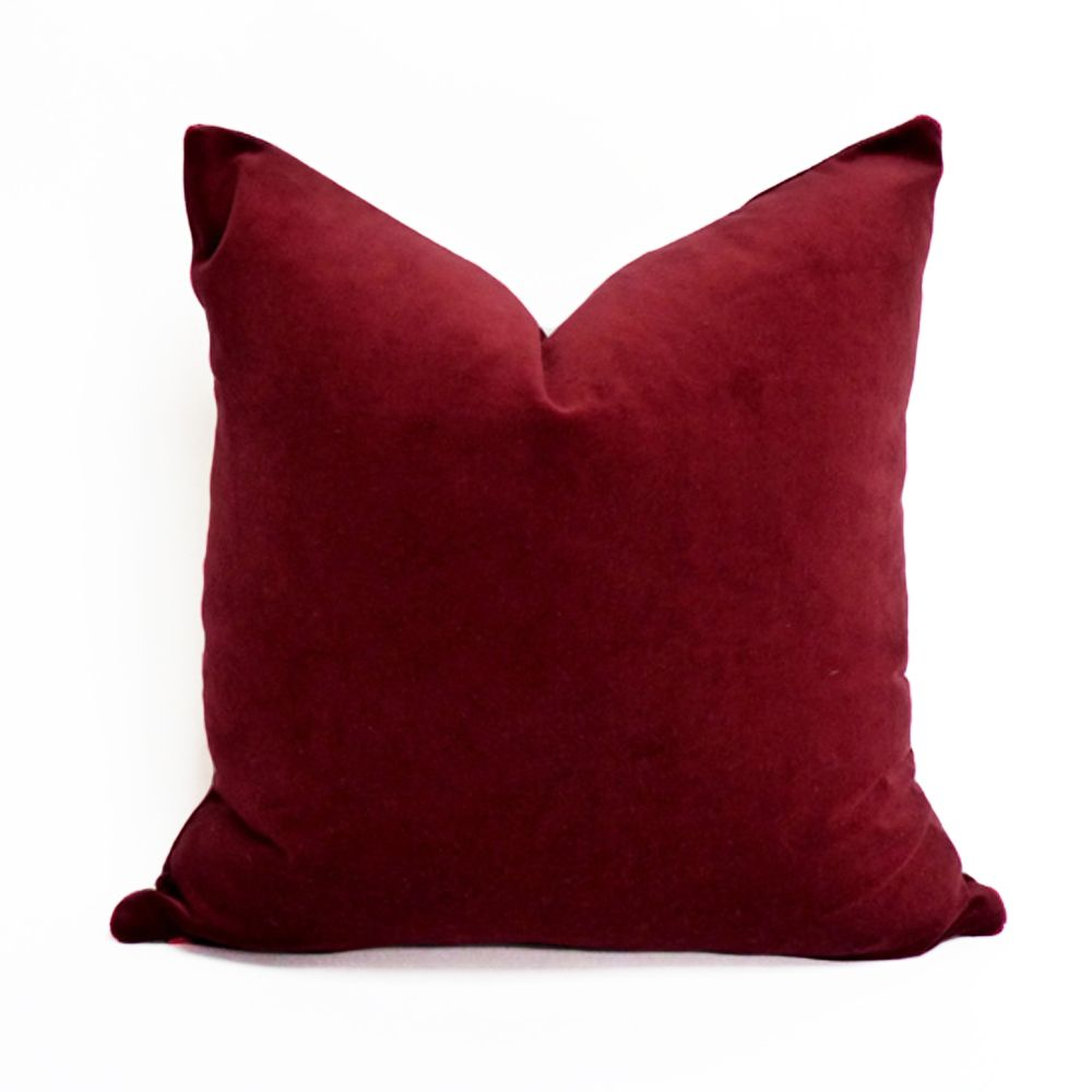 Essie Home Luxury Burgundy Wine Red Dark Red Velvet Cushion Cover Pillow Case Lumber Pillow Case Velvet Cushions Pillow Covers Red Sofa