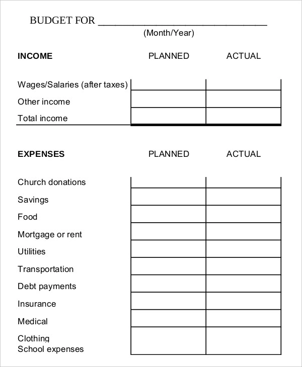 8 Family Budget Templates With Images Budget Spreadsheet