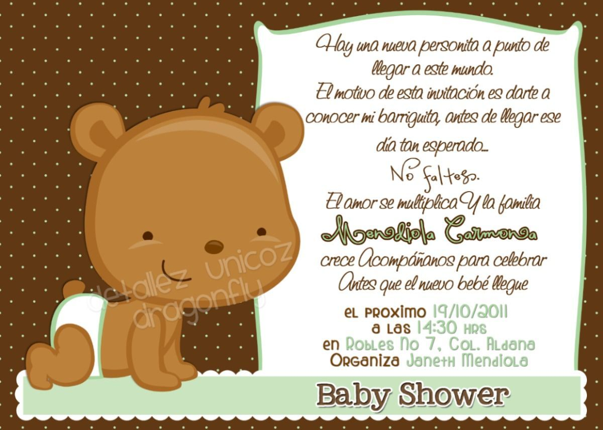 invitación baby shower que poner - Buscar con Google | baby shower ...