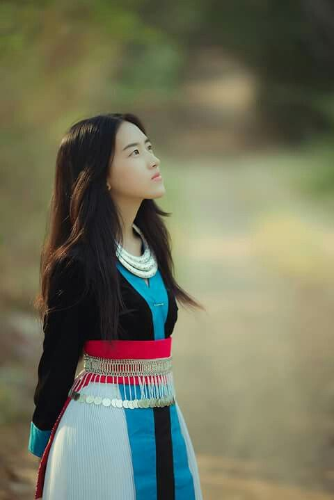 15660e573 Hmong White Clothing.She's beautiful but retouching the pictures make her  very very beautiful. I'm fear.