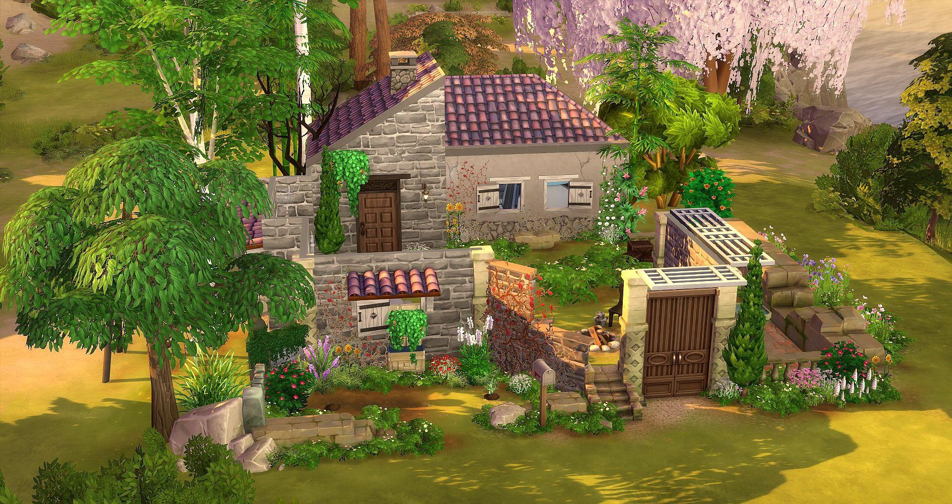 Maison En Ruine Dessin la ruine | maison sims, sims 4 maison