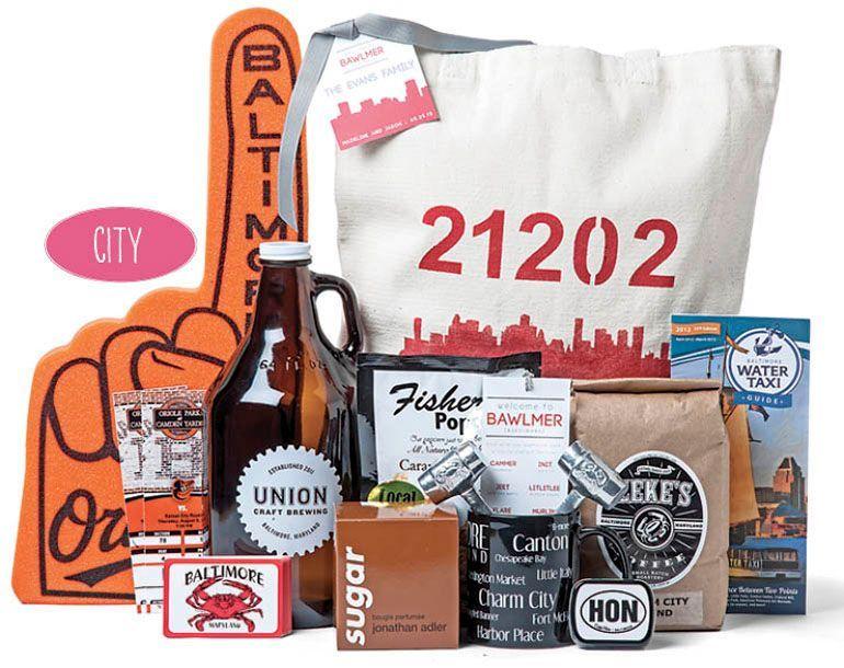 Baltimore City Wedding Gift Basket/ Gift Bag ideas | Wedding ...