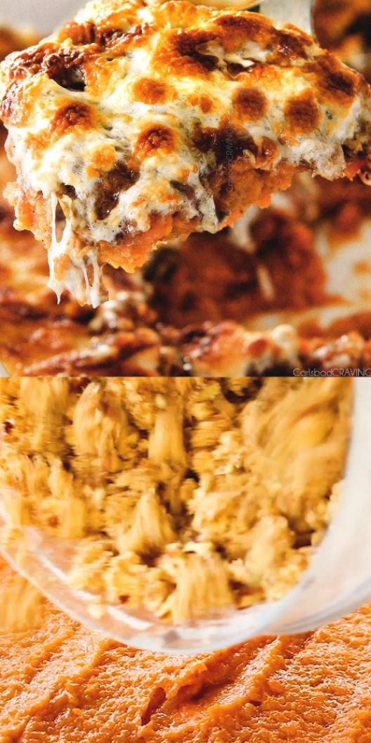 The best ever  Sweet Potato Casserole with Marshmallows AND buttery  brown sugar Pecan Topping   This has been our favorite recipe ever since we tasted it almost a decade ago and you will love that you can assemble it the night before Thanksgiving or Christmas   #thanksgivingrecipe #thanksgivingsides #thanksgivingfood #thanksgiving #dinner #sweetpotatoes #sweetpotatocasserole #dinnerrecipes  #sidedishrecipes #side #recipes #recipeoftheday #recipeseasy #recipesfordinner #easyrecipe #easydinner