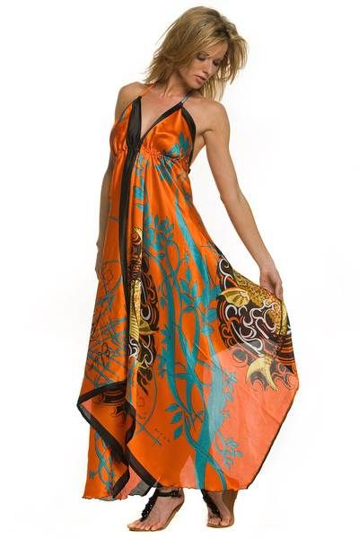 ead32ebf7bf02 This dress is very artistic, chic and colorful. This piece took me on a  free-spirited journey. Bravo!