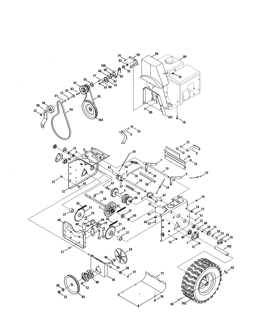 Snow King Snowblower Parts Manual For Blower Wiring Diagram Sears Alternator Electrical 900x1164