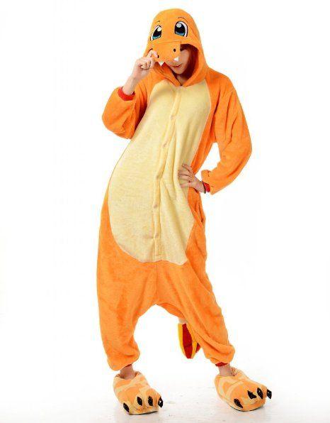Charmander Adult Men Women Unisex Animal Sleepsuit Kigurumi Cosplay Costume  Pajamas Outfit Nonopnd Nightclothes Onesies Halloween Cheap Cost. 5421a3c12