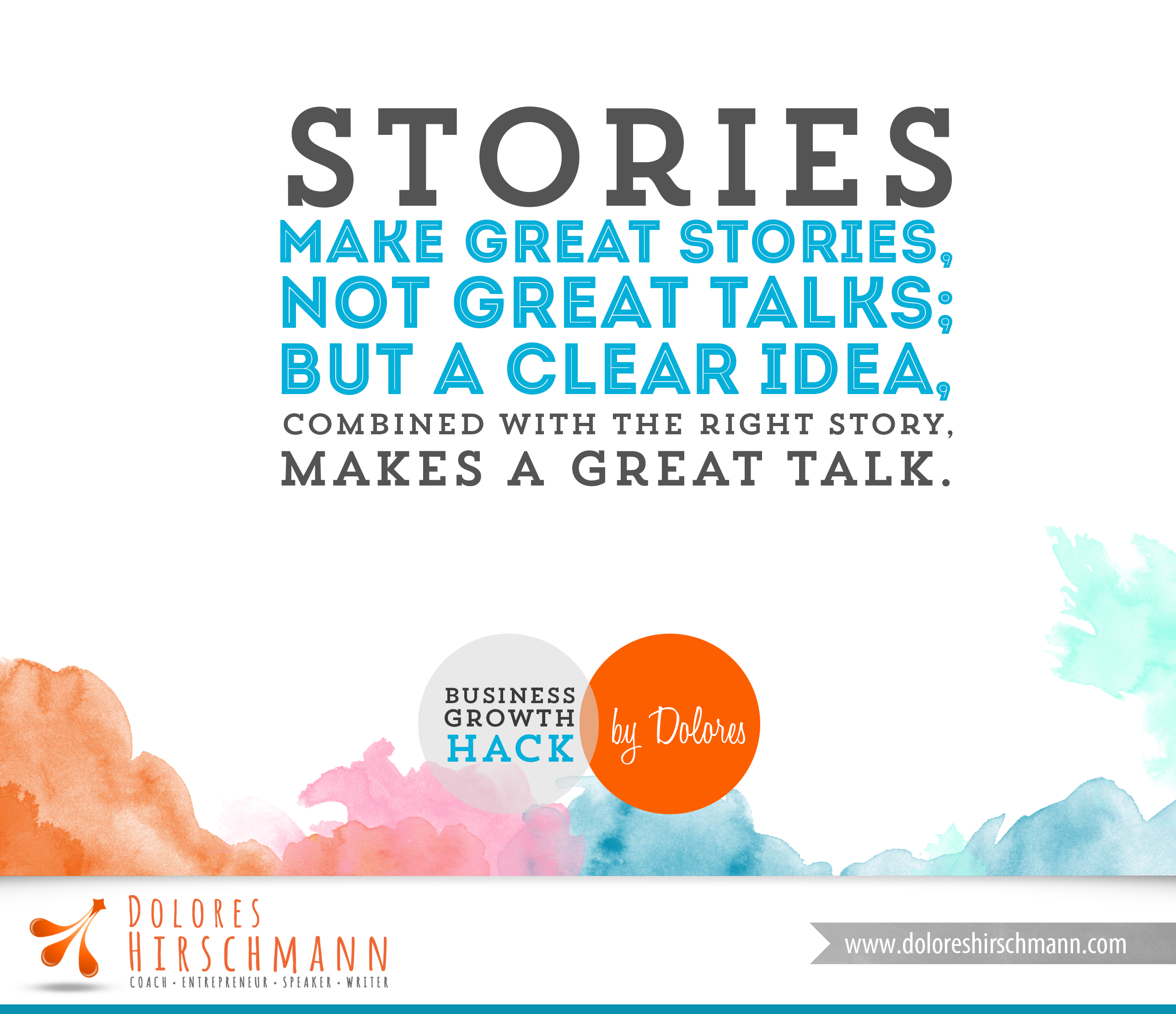 Stories Make Great Stories Not Great Talks But A Clear