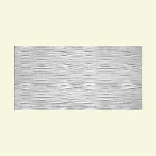 Fasade Waves Horizontal Matte White Foot X Foot Wall Panel - 4 x 8 bathroom wall panels
