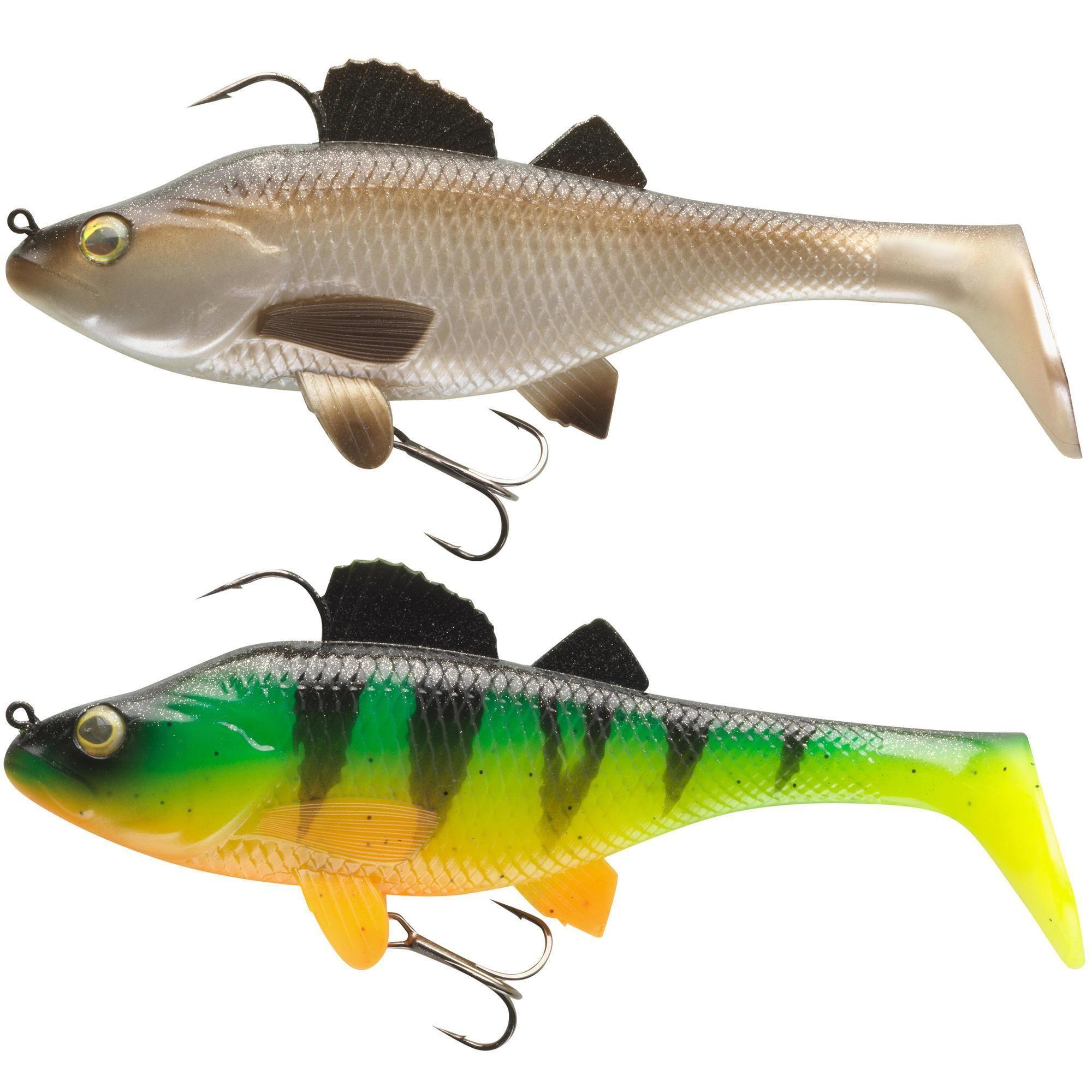 Caperlan - Hengelsport - Softbaits - Softbait shad voor kunstaasvissen Set Perch RTC 170 baars. Onze ontwerpers, zelf fervente hengelaars, hebben deze shad ontwikkeld voor het kunstaasvissen in zoet water, vooral met het oog op snoek.