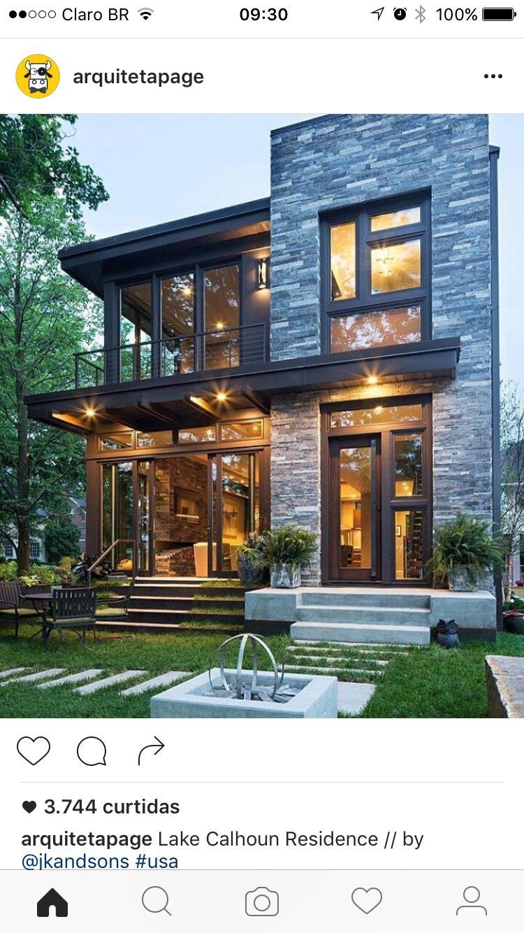 Fachadas de casas pequenas e modernas: 100 fotos lindas e ...