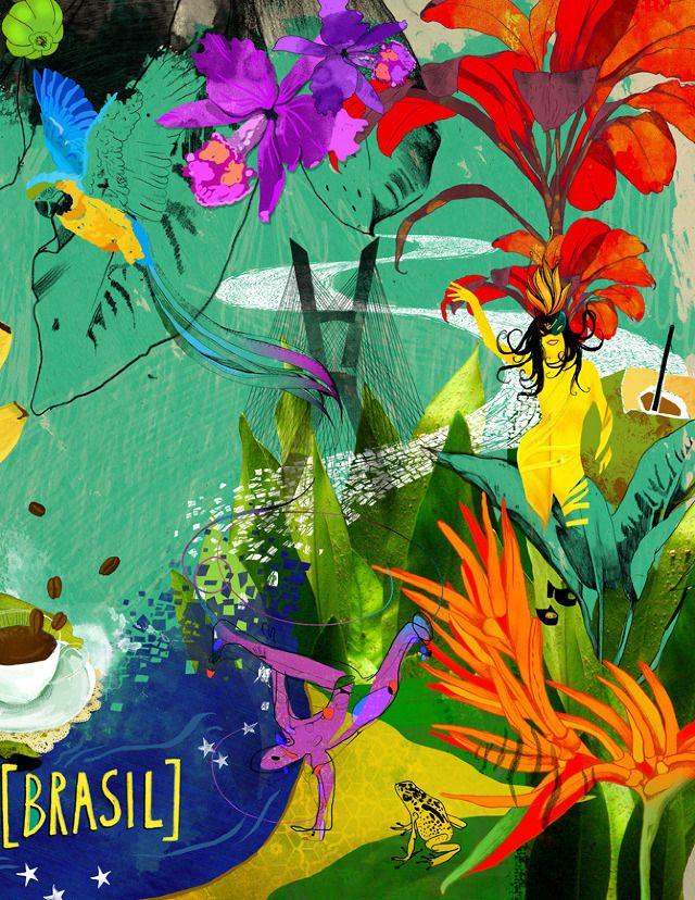 "Rosetta Stone ""Português / Brasil"" - Linn Olofsdotter    |     Illustrator"