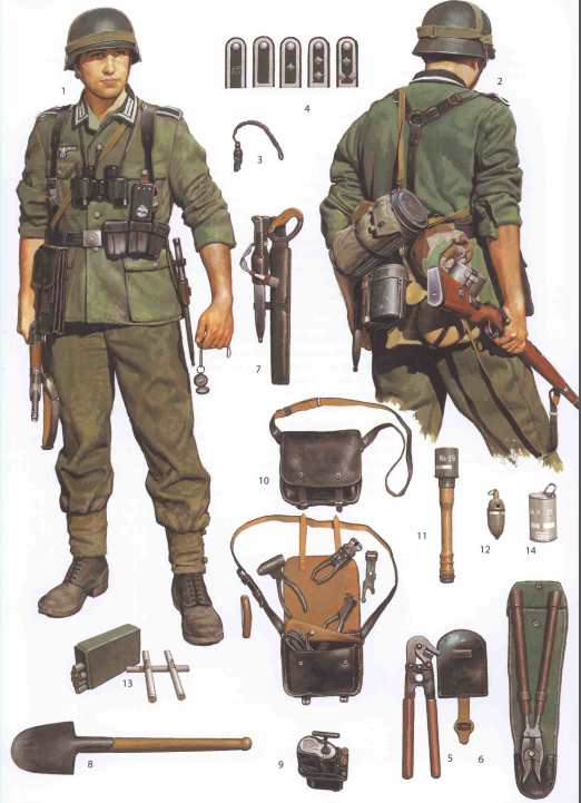 tysk soldat fra 1943-45