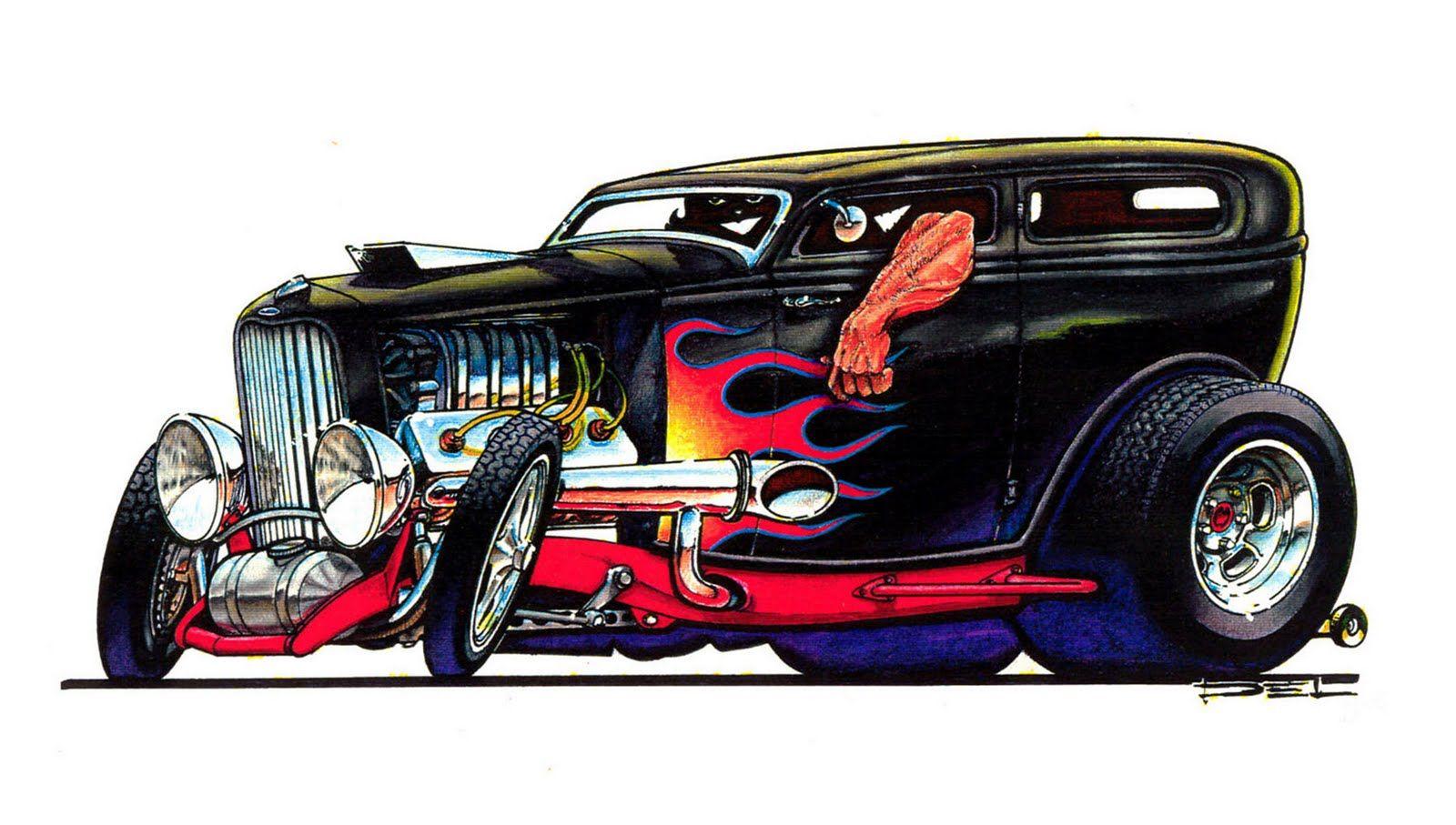 Cartoon Hot Rod Clip Art Cartoon Car Drawing Car Cartoon Hot Rods
