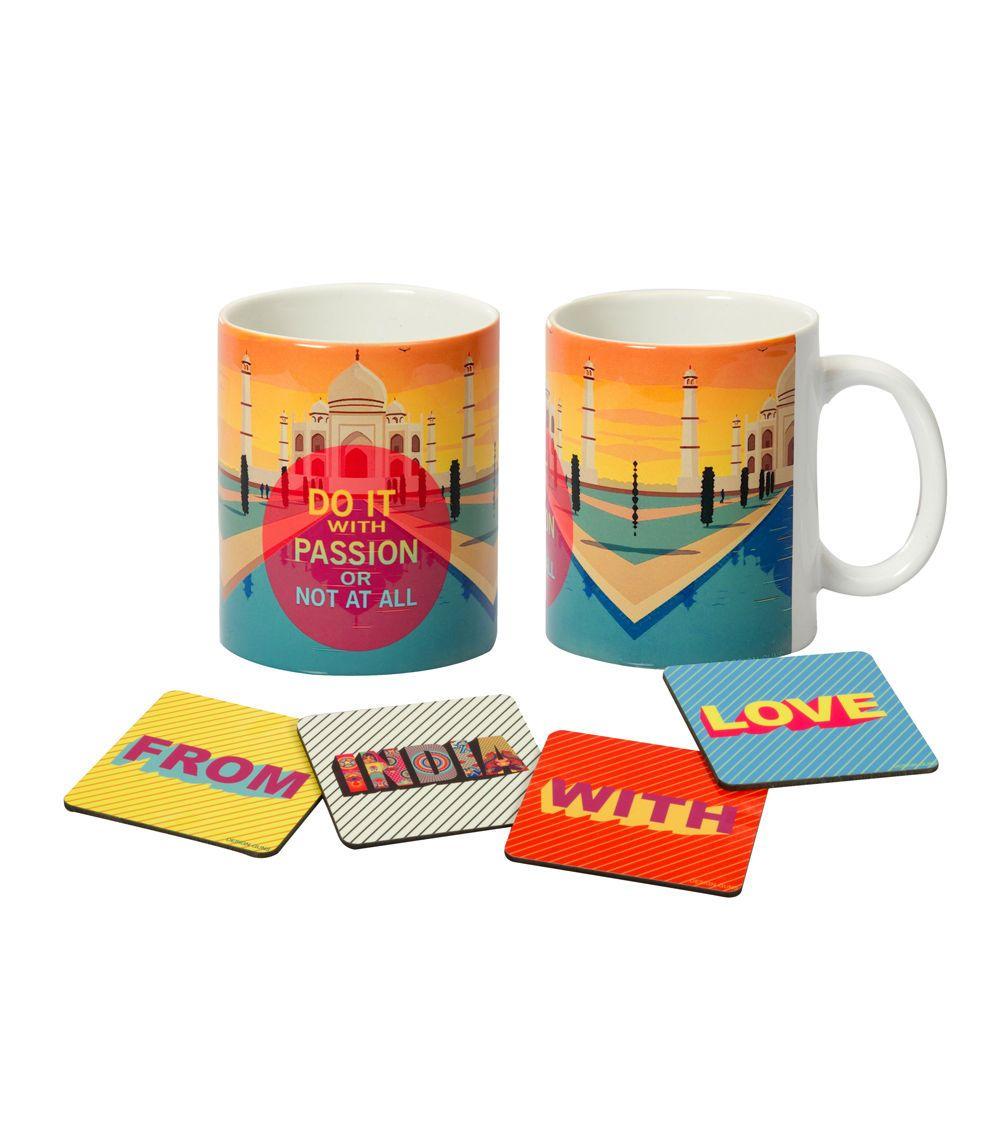 Multi Coloured Taj Mahal #Printed #Ceramic #Mug