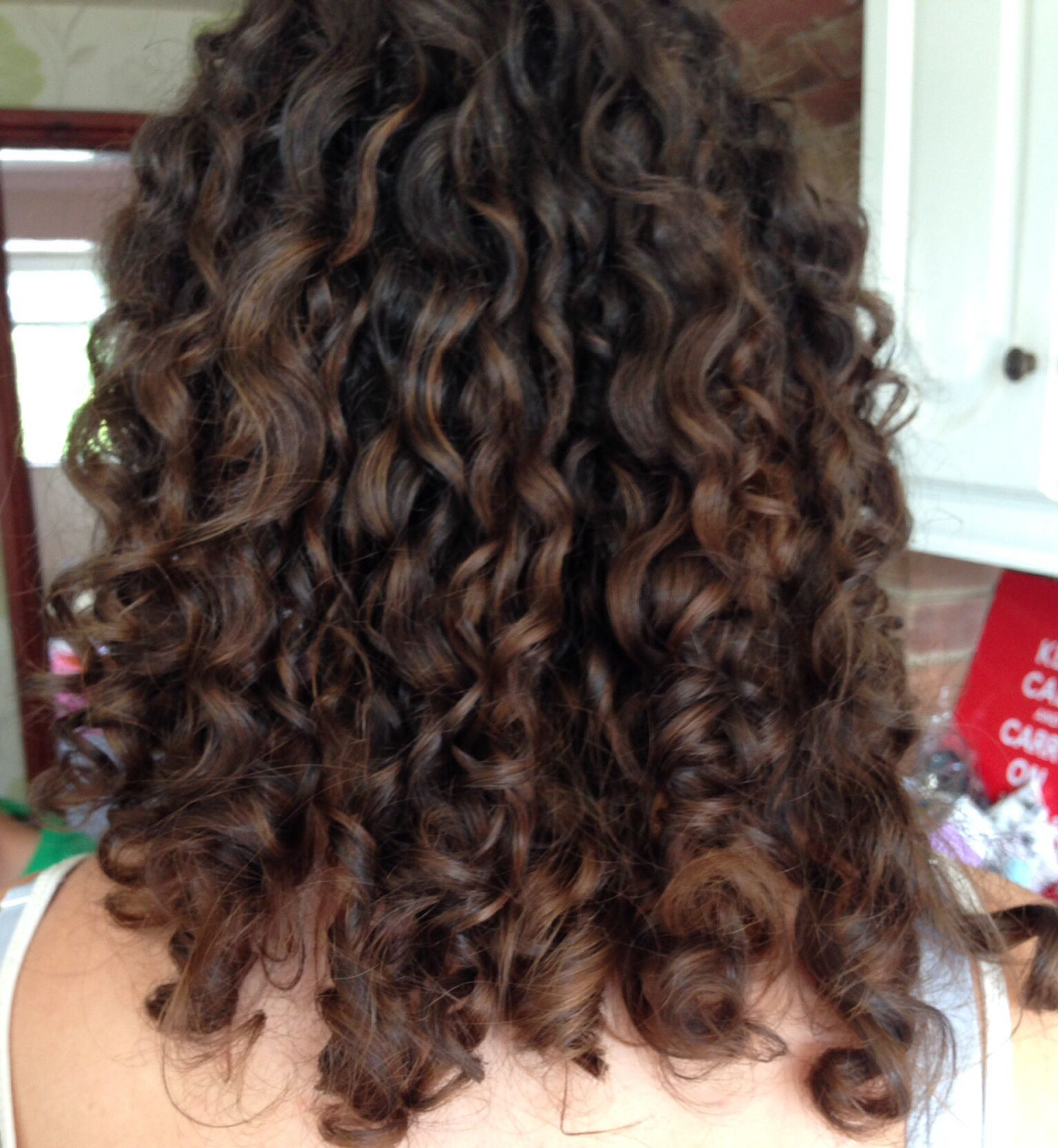 Curly Colour No Foils Painted On Beautiful Curly Hair