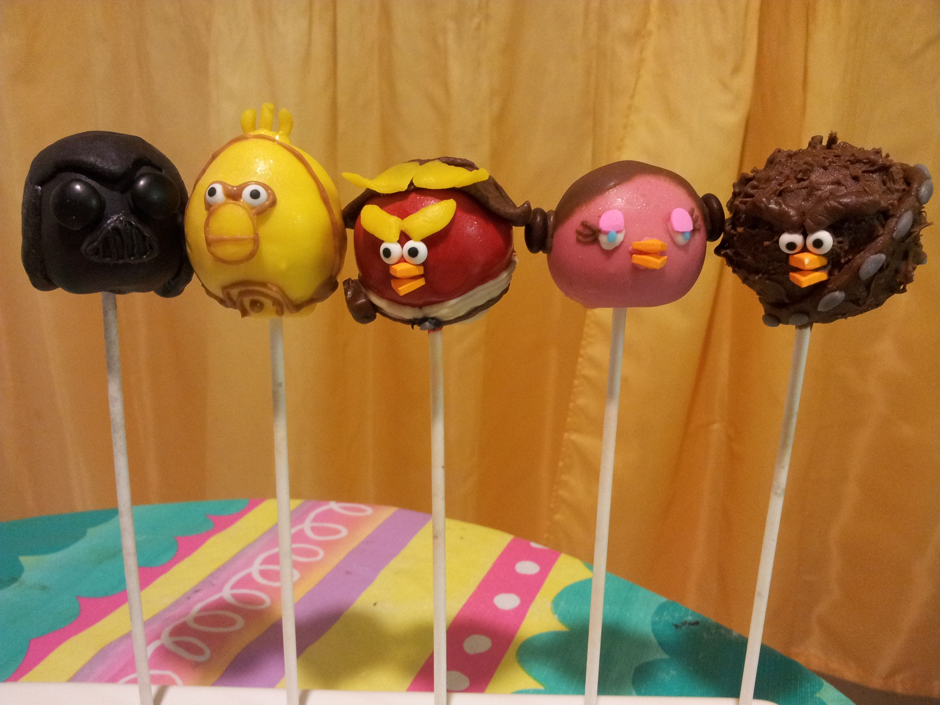 Angry Birds Star Wars Cake Pops