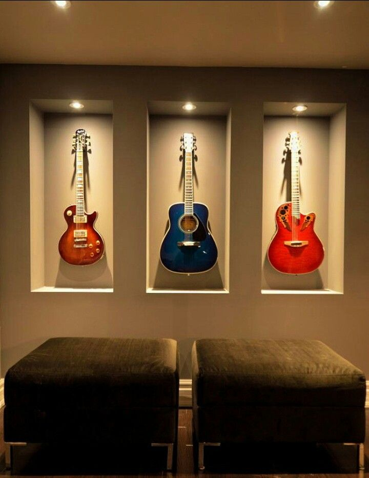 guitar case coffee table display & functionality rolled in one