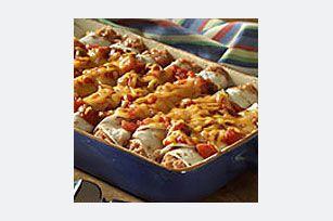 Cheesy Bean Enchiladas recipe