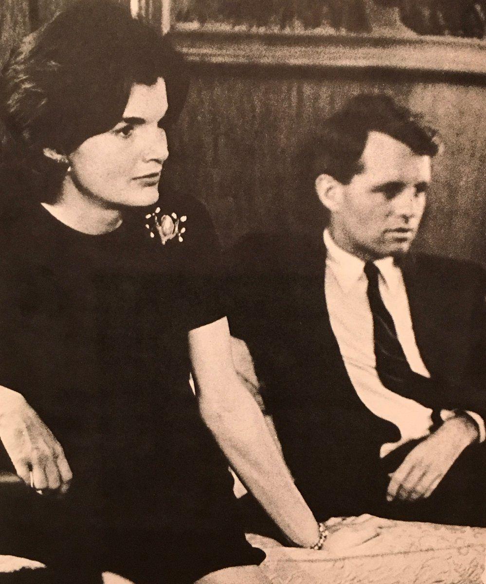Jackie and Robert Kennedy watching JFK Nixon Debate